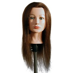 "Marianna 24"" Cosmetology Mannequin Head 100% Human Hair - Miss Barbara Brown"