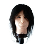 "Celebrity 20"" Cosmetology Mannequin Head 100% Human Hair Male - Jake"