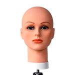 Celebrity Cosmetology Mannequin Head Bald with Make-Up