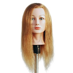 "Marianna 24"" Cosmetology Mannequin Head 100% Human Hair - Miss Barbara Blonde"
