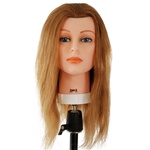 "Celebrity 22"" Cosmetology Mannequin Head 100% Human Hair, Blonde - Sam II"