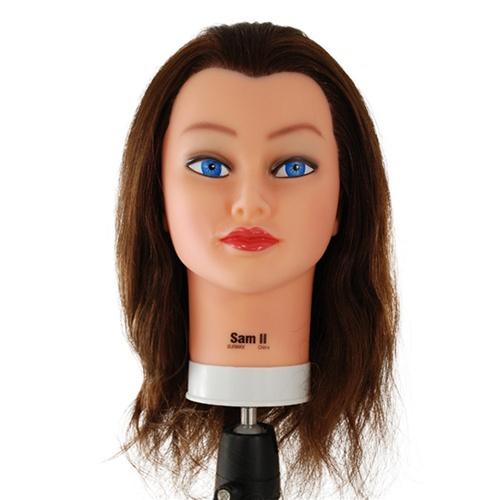 Celebrity Sam II Brown Hair Manikin Head S153