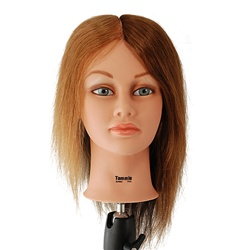 "Celebrity 18"" 4-Color Cosmetology Mannequin Head 100% Human Hair for Color Training - Tammie"